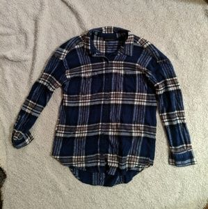 Attention Blue and white flannel